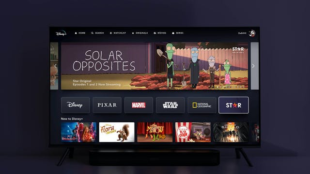 DISNEYPLUS STAR TV UI